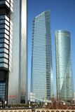 Cuatro Torres Business Area in Madrid, Spain Stock Image