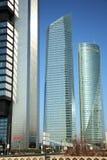 Cuatro Torres Business Area in Madrid, Spain Stock Image
