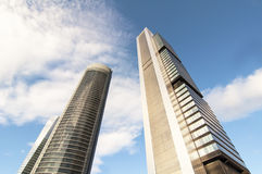 Cuatro Torres Geschäftsbereich, Madrid Stockfotos