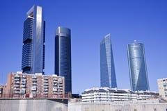 Cuatro Torres in Madrid Stock Photos