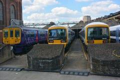 Cuatro trenes Foto de archivo