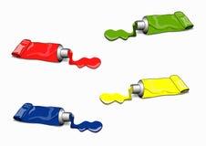 Cuatro tubos de pintura libre illustration