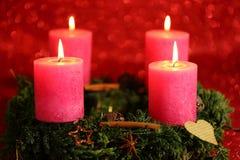 Cuatro velas Foto de archivo