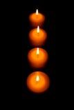 Cuatro velas Foto de archivo libre de regalías