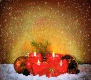 Cuatro velas del advenimiento Fotografía de archivo libre de regalías