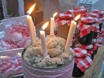 Cuatro velas del advenimiento Fotos de archivo libres de regalías