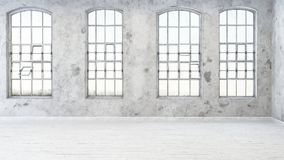 Cuatro ventanas con los pequeños marcos rectangulares stock de ilustración