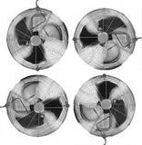 Cuatro ventiladores stock de ilustración