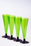 Cuatro vidrios de vino altos Imagen de archivo