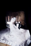 Cuatro vidrios que se casan ceremoniosos Foto de archivo libre de regalías