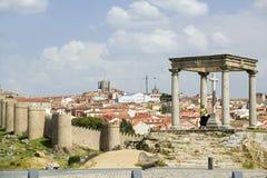 Cuatros Postes (Four Pillars or Posts), Avila Spain, an old Castilian Spanish village Royalty Free Stock Images