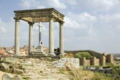 Cuatros Postes (Four Pillars or Posts) in the old Castillian Spanish village of Avila Spain Stock Images