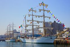Cuauatemoc Ship at The Tall Ships Race Royalty Free Stock Image
