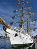 cuauhtemoc高码头的船 库存照片