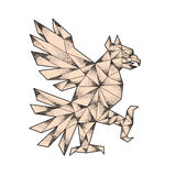 Cuauhtli Glifo Eagle Tattoo. Tattoo style illustration of a glifo from the azteca`s culture of a Cuauhtli showing an eagle in a fighting stance viewed from the Stock Photos