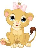cub λιοντάρι κοριτσιών Στοκ Εικόνες