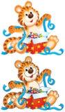 cub τίγρη δώρων απεικόνιση αποθεμάτων