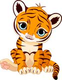 Cub di tigre sveglio royalty illustrazione gratis