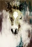 Cub horse face on abstract background. Color effect. Cub horse face on abstract background. Color effect Royalty Free Illustration