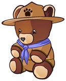 Cub Scout Teddy Bear Royalty Free Stock Photography