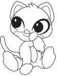 Cub stuffed toy coloring page Stock Photo