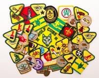 CUB und Pfadfinder Merit Badges Stockbilder