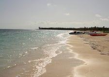 Cuba. Blue caribbean sea and beach in cuba Royalty Free Stock Photo