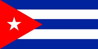 Cuba. National flag of Cuba Stock Photos