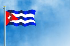 Cuba. National flag of Cuba Royalty Free Stock Photos