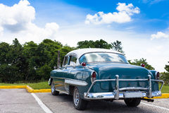 Cuba american classic car under blue sky Stock Images