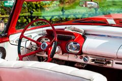 Cuba American oldtimer in Cuba Interior Royalty Free Stock Photography