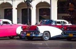 Cuba Amerikaanse Oldtimer op de Hoofdstraat in Havanna Royalty-vrije Stock Foto