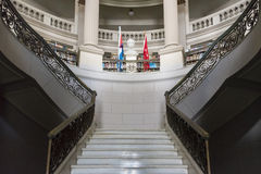 Cuba Architecture: Marble Stairs in Public Vintage Building Stock Image