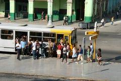 cuba autobusowa przerwa Havana zdjęcia royalty free