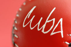 Cuba  baseball. A baseball ball in a simple background Royalty Free Stock Images