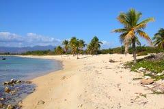 Cuba beach. Cuba - famous Playa Ancon beach. Caribbean seaside destination Royalty Free Stock Images