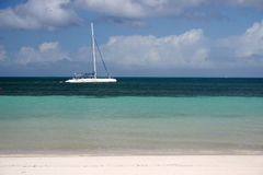 Cuba beach and boat Stock Photos