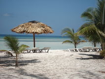 Cuba Beach. White Sandy Beach Of Cuba royalty free stock photo