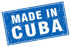 Cuba blue square made in stamp. Cuba blue square grunge made in stamp Stock Image