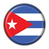 Cuba button flag round shape Royalty Free Stock Photo