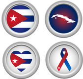 Cuba Buttons Stock Photos