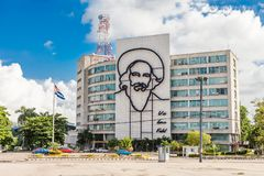 Cuba, Camilo Cienfuegos face Stock Photo