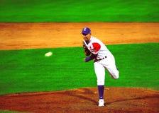 Cuba-Canada baseballl game.Yulieski gonzales Royalty Free Stock Image