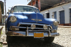 Cuba car. An old car  in Trinidad traditional village at Cuba Royalty Free Stock Photo