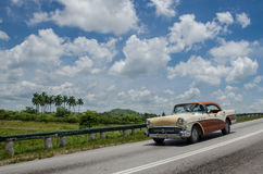 Cuba car blue sky Royalty Free Stock Photo