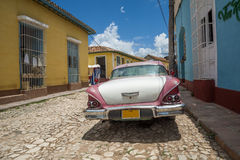 Cuba car. A typical car of cuba in a road of the city of Trinidad Stock Photo