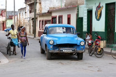 Cuba, Cardenas, Oldtimer Stock Images