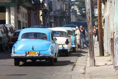 Cuba cars stock photo