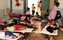 Cuba: children care station in Trinidad for mothers, which are w stock images