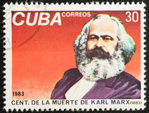 CUBA - CIRCA 1983. Karl Marx Stock Photography